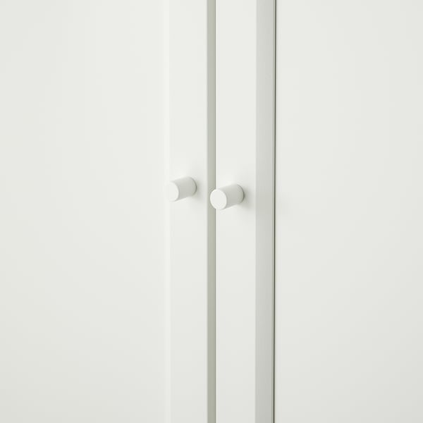 BILLY 빌리 / OXBERG 옥스베리 책장+상단추가유닛/도어, 화이트, 160x30x237 cm