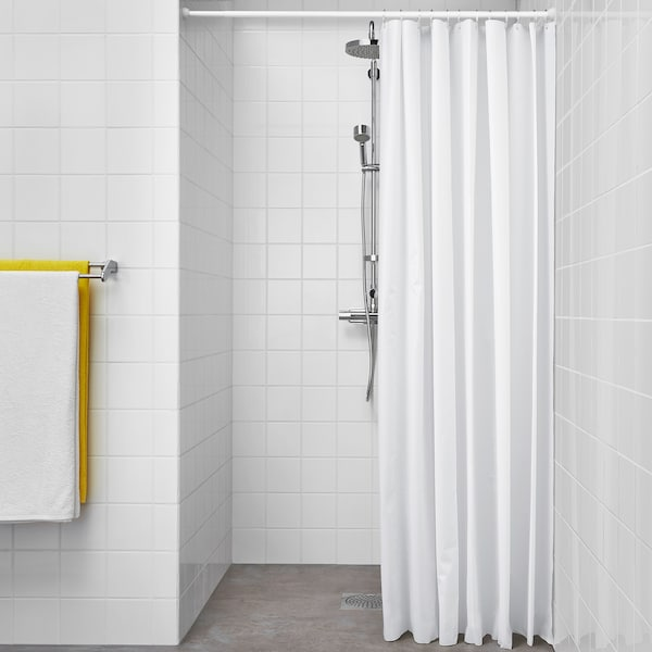 BJÄRSEN 비에르센 샤워커튼, 화이트, 180x200 cm