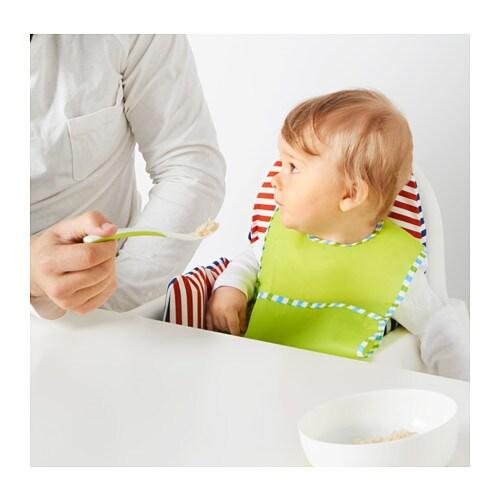 BÖRJA 뵈리아 이유식스푼 IKEA 손에 쥐기 편한 크기와 디자인으로 아기 스스로 먹는 법을 배워갈 수 있습니다. 큰 수저는 손잡이가 길어서 이유식 등을 먹일 때 병에 든 음식을 더 쉽게 덜어낼 수 있습니다.