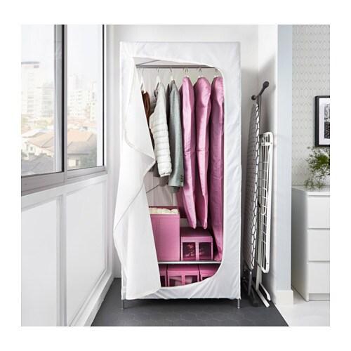 BREIM 브레임 옷장 IKEA SKUBB/스쿠브 시리즈의 내부부속품을 이용하면 더욱 편하게 정리할 수 있습니다. 패브릭을 벗겨서 물세탁할 수 있습니다.