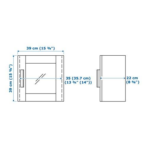 BRIMNES 브림네스 벽수납장+유리도어 IKEA 패널도어를 달면 내용물을 감출 수 있고 먼지도 앉지 않습니다. 선반의 높이와 간격을 조절하여 나에게 꼭 맞는 수납공간을 만들 수 있습니다. 도어는 공간에 맞춰 좌우 어디에든 설치할 수 있습니다.