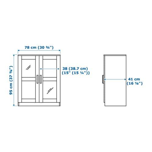 BRIMNES 브림네스 도어수납장 IKEA 패널도어를 달면 내용물을 감출 수 있고 먼지도 앉지 않습니다. 선반의 높이와 간격을 조절하여 나에게 꼭 맞는 수납공간을 만들 수 있습니다.
