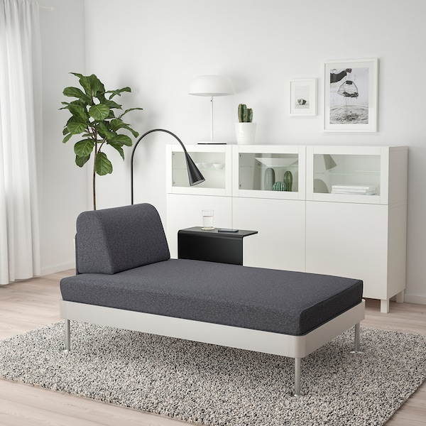 IKEA 델락티그 긴의자+보조테이블+조명