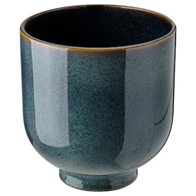 DRÖMSK 드룀스크 화분, 실내외겸용 다크블루, 15 cm