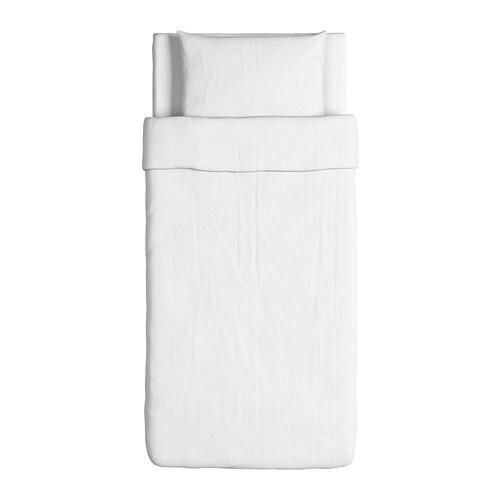 DVALA 드발라 이불커버+베개커버 IKEA 100% 순면입니다. 튼튼하고 세탁하면 부드럽기까지 하죠. 똑딱이 단추가 있어서 이불이 밀리지 않습니다.