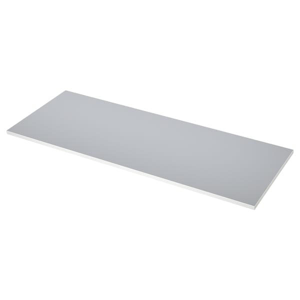 EKBACKEN 에크바켄 양면 조리대, 흰색 모서리 라이트그레이/화이트/라미네이트, 186x2.8 cm