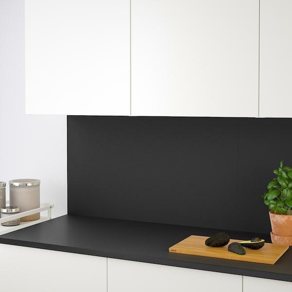 EKBACKEN 에크바켄 조리대, 무광 앤트러싸이트/라미네이트, 186x2.8 cm