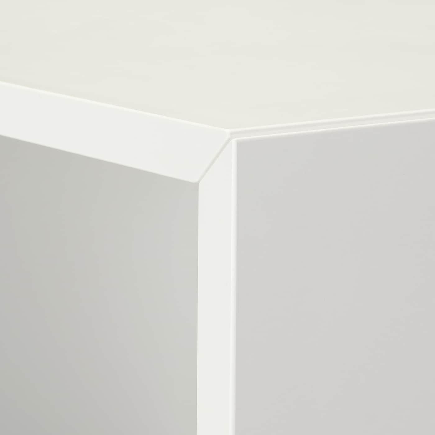 EKET 에케트 수납콤비네이션+발받침, 화이트, 105x35x107 cm