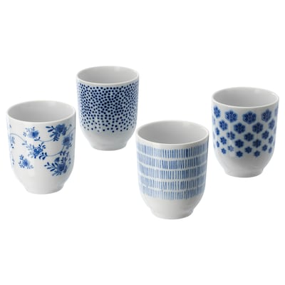 ENTUSIASM 엔투시아슴 머그컵, 패턴/블루, 22 cl