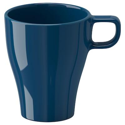 FÄRGRIK 페리리크 머그컵, 다크터쿼이즈, 25 cl