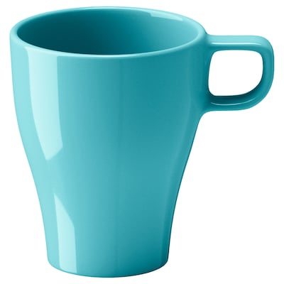 FÄRGRIK 페리리크 머그컵, 터쿼이즈, 25 cl