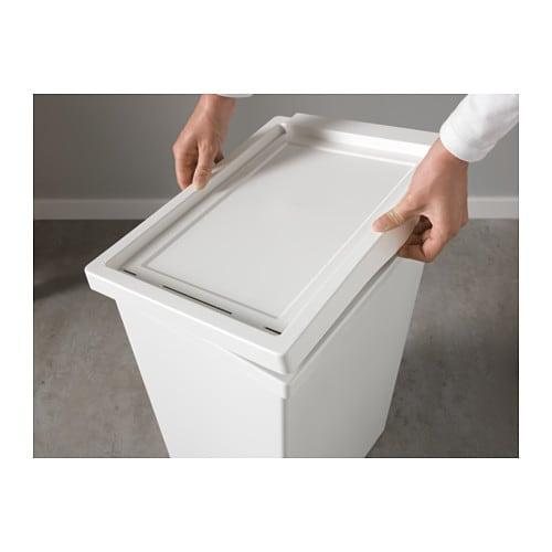 FILUR 필루르 통+뚜껑 IKEA 모서리가 둥글어서 쉽게 잘 닦입니다.