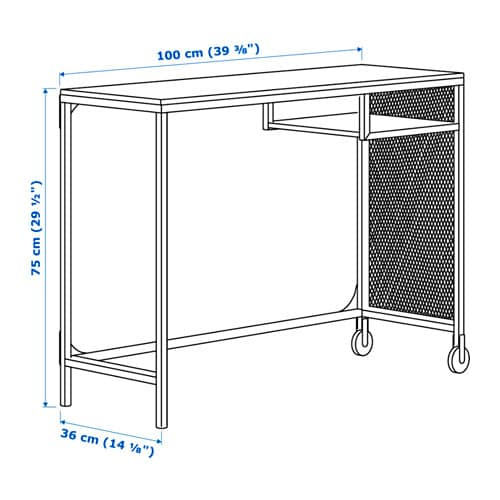 FJÄLLBO 피엘보 노트북책상 IKEA 메탈과 원목 소재의 소박한 책상으로, 좁은 공간에 잘 맞는 유연하고 기능적인 작업공간을 만들 수 있습니다. 목재는 살아 숨 쉬는 천연 소재로 독특한 나뭇결과 색상, 질감을 가지고 있어 원목 가구마다 고유한 특성을 갖고 있습니다.