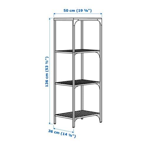 FJÄLLBO 피엘보 선반유닛 IKEA 메탈과 원목 소재의 소박한 선반으로, 물건을 보관하고 전시할 수 있습니다. 하나의 유닛은 한정된 공간에서 그 자체로 충분한 수납공간으로 기능하며, 필요에 따라 더 큰 수납공간으로 확장할 수도 있습니다.