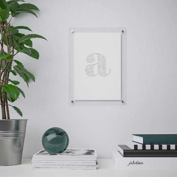 FORNBRO 포른브로 액자, 투명, 21x30 cm
