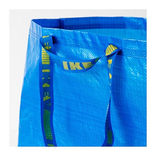 FRAKTA 프락타 장바구니L IKEA 물로 헹궈 말리기만 하면 됩니다. 납작하게 접어서 보관할 수 있습니다. 분리수거용으로도 사용할 수 있습니다.
