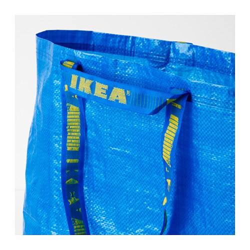 FRAKTA 프락타 장바구니M IKEA 물로 헹궈 말리기만 하면 됩니다. 납작하게 접어서 보관할 수 있습니다. 분리수거용으로도 사용할 수 있습니다.