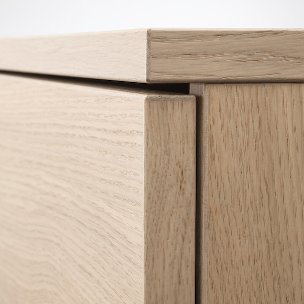 GALANT 갈란트 도어수납장, 화이트스테인 참나무 무늬목, 80x120 cm