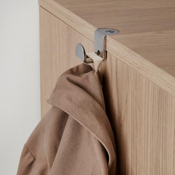 GALANT 갈란트 미닫이수납콤비네이션, 화이트스테인 참나무 무늬목, 320x120 cm