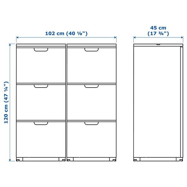 GALANT 갈란트 파일수납 콤비네이션, 화이트, 102x120 cm
