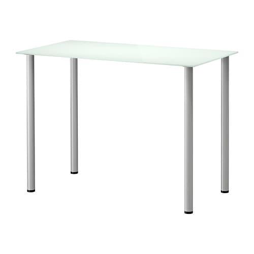GLASHOLM / ADILS 테이블 - 유리 화이트/실버 - IKEA