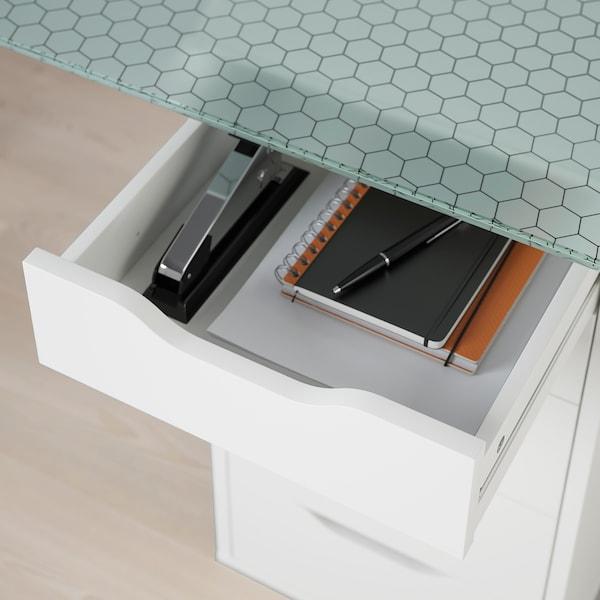글라스홀름 / 알렉스 테이블 유리/벌집구조 패턴 화이트 148 cm 73 cm 71 cm 50 kg