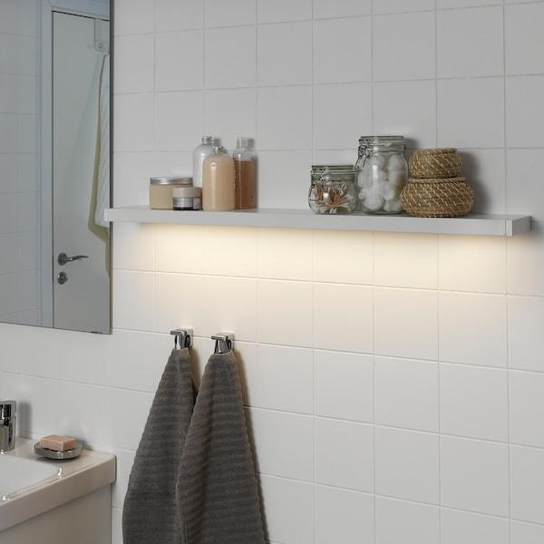 GODMORGON 고드모르곤 LED수납장/벽부착등, 화이트, 100 cm