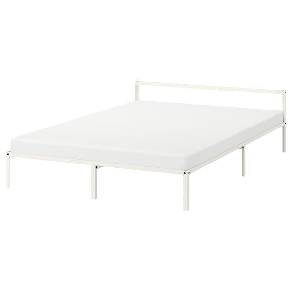 GRIMSBU 그림스부 침대프레임, 화이트/루뢰위, 150x200 cm