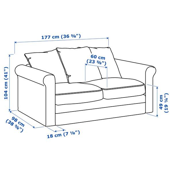 IKEA 그뢴리드 2인용소파