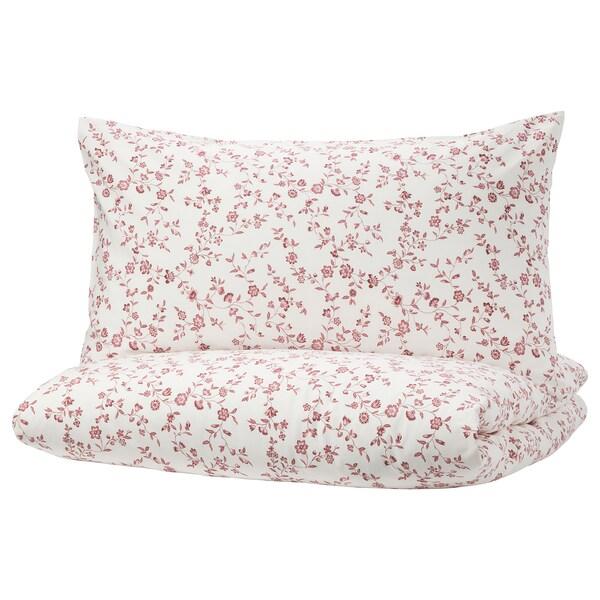 헤슬레클로카 이불커버+베개커버2 화이트/핑크 152 평방인치 2 개 220 cm 240 cm 50 cm 80 cm
