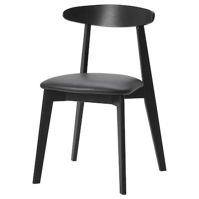 HANSOLA 한솔라 의자, 대나무 블랙/킴스타드 블랙