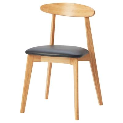 HANSOLA 한솔라 의자, 대나무/킴스타드 블랙