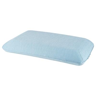 HÅRGÄNGEL 호리엥엘 인체공학적 베개, 측면 수면/똑바로 눕는 자세용, 라이트블루, 41x71 cm