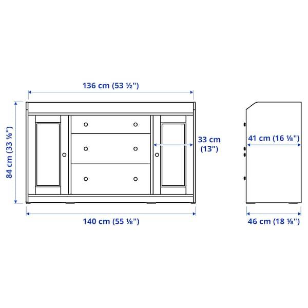 HAUGA 하우가 다용도수납장, 화이트, 140x84 cm