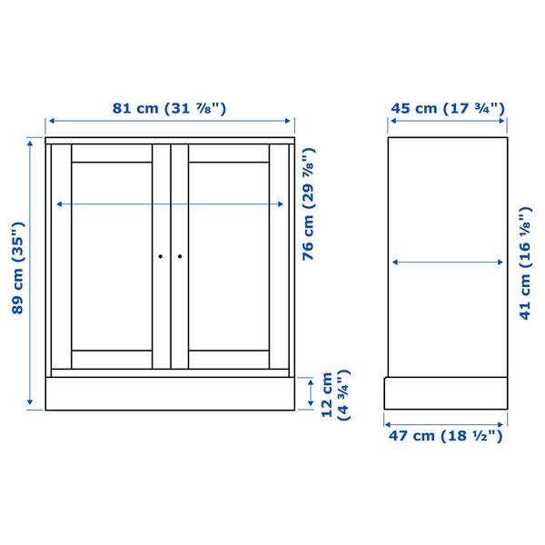 HAVSTA 하브스타 수납장+하부몰딩, 그레이, 81x47x89 cm