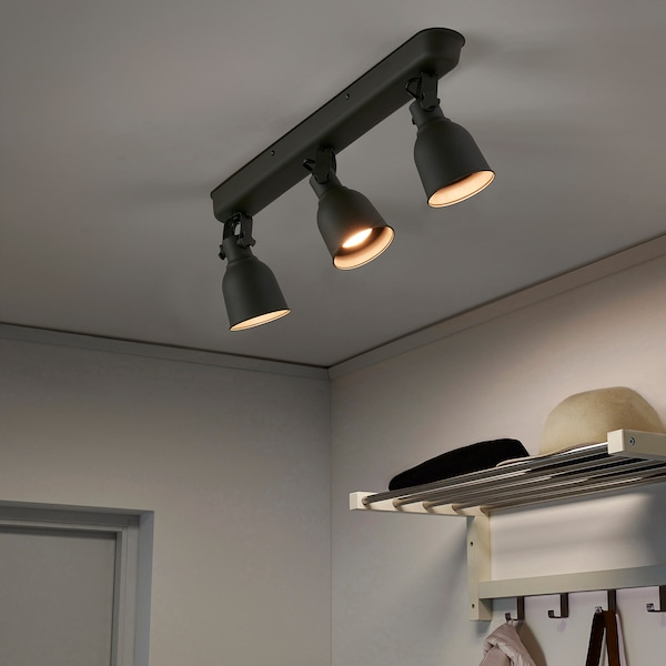 IKEA 헥타르 천장트랙조명3등
