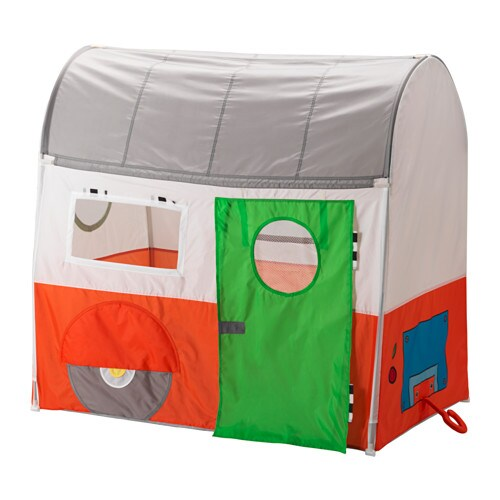 HEMMAHOS 헴마호스 놀이텐트 IKEA 알록달록 캠핑카와 상상력만 있으면 어디든 여행할 수 있답니다. 주방에서 사자와 호랑이를 만나고 거실에서 카우보이를 만날지도 모르죠.