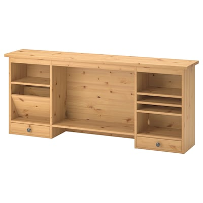 HEMNES 헴네스 책상용 추가유닛, 라이트브라운, 152x63 cm