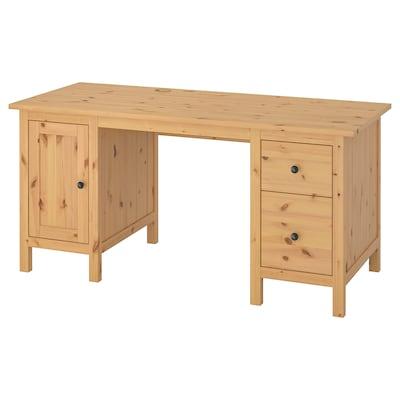 HEMNES 헴네스 책상, 라이트브라운, 155x65 cm