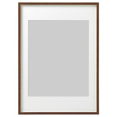 HOVSTA 호브스타 액자, 미디엄브라운, 50x70 cm