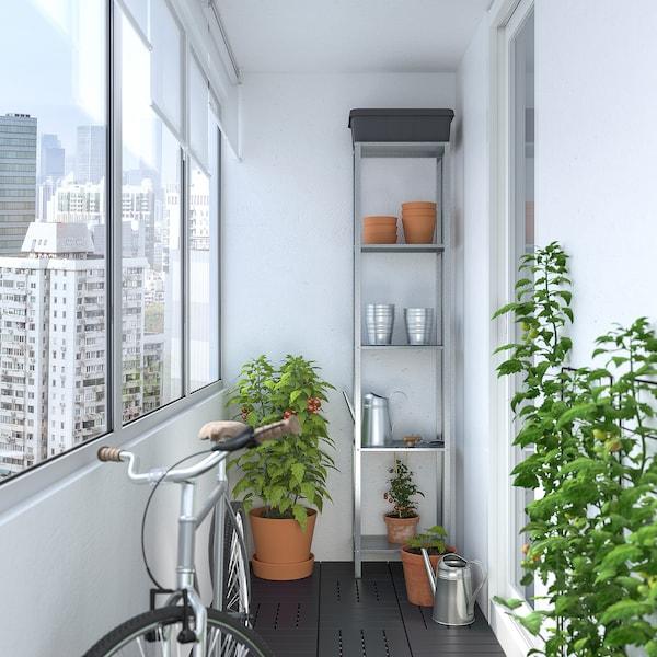 HYLLIS 휠리스 선반유닛, 실내외겸용, 40x27x183 cm