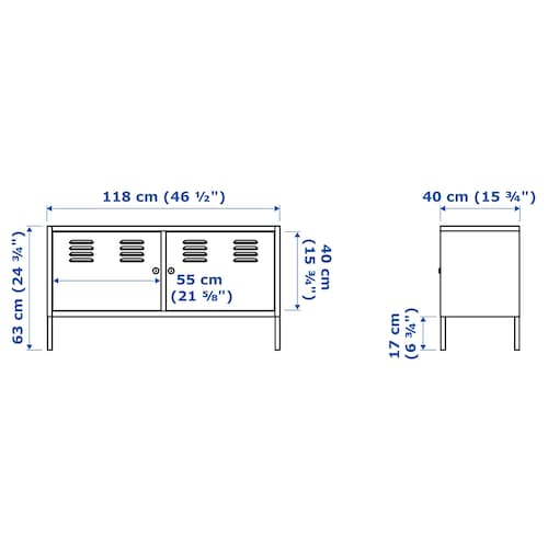 IKEA PS 수납장, 화이트, 119x63 cm