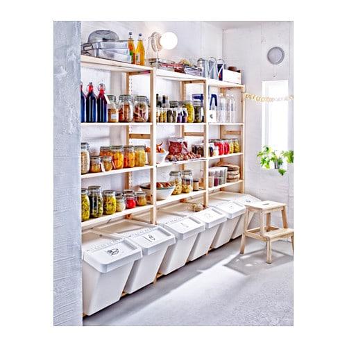 IVAR 이바르 섹션1/선반 IKEA 무가공 원목은 내구성이 뛰어난 천연소재로 오일이나 왁스를 칠하면 내구성이 높아지고 관리도 편해집니다. 좁은 공간에서 단독으로 사용할 수도 있고 유닛을 추가하여 좀 더 넓은 수납 솔루션을 만들 수도 있습니다.