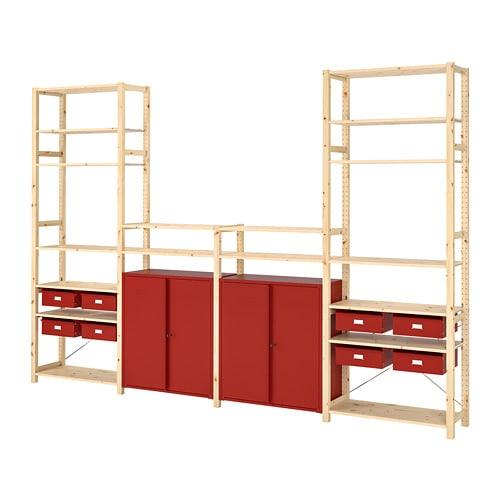 IVAR 이바르 선반유닛+수납장/서랍 IKEA 소나무 원목은 시간이 흐를수록 그 아름다움이 진해지고 저마다의 개성이 강해지는 천연 소재입니다. IVAR/이바르 수납시스템과 함께 사용하거나 단독으로 사용할 수 있습니다.