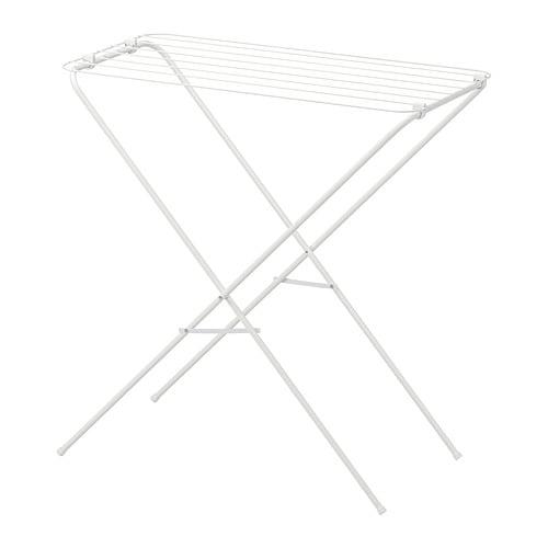 JÄLL 옐 실내외건조대 IKEA 접어서 보관하세요. 실내외 어디에서나 사용할 수 있습니다.