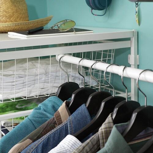 JONAXEL 요낙셀 조절식옷걸이봉 IKEA 욕실 등의 습기가 많은 곳에서도 사용할 수 있습니다. 한눈에 확인하고 쉽게 옷을 꺼낼 수 있어요.