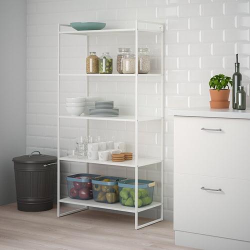 JONAXEL 요낙셀 선반유닛 IKEA 욕실 등의 습기가 많은 곳에서도 사용할 수 있습니다. 파우더코팅 스틸로 만든 선반유닛으로, 내구성이 뛰어나고 청소와 관리가 용이하며 녹이 잘 슬지 않습니다.