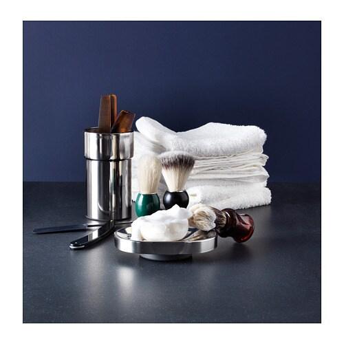 KALKGRUND 칼크그룬드 칫솔꽂이 IKEA 바닥을 분리할 수 있어 칫솔꽂이를 깨끗하게 유지할 수 있습니다. 크롬 마감처리를 하여 내구성이 뛰어나고 부식에 강합니다.