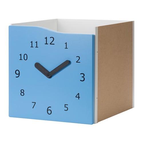 KALLAX 도어식인서트 - 블루/시계 - IKEA