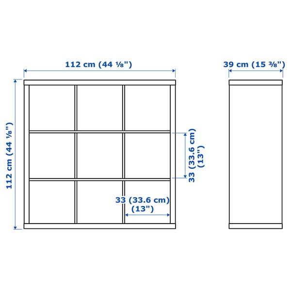 KALLAX 칼락스 선반유닛, 화이트, 112x112 cm